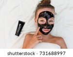 beautiful girl with facial ... | Shutterstock . vector #731688997