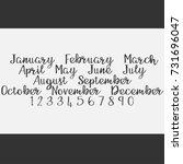 vector lettering months names...   Shutterstock .eps vector #731696047