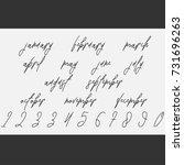 vector lettering months names...   Shutterstock .eps vector #731696263