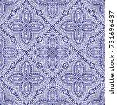vintage decorative seamless...   Shutterstock .eps vector #731696437