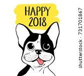 happy 2018 vector illustration... | Shutterstock .eps vector #731701867