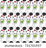 merry christmas. holiday vector ... | Shutterstock .eps vector #731701957