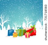 christmas greeting background ... | Shutterstock .eps vector #731718583