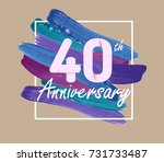 40 years anniversary with... | Shutterstock .eps vector #731733487