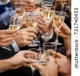 celebration. people holding... | Shutterstock . vector #731740453