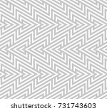 abstract geometric pattern with ... | Shutterstock . vector #731743603