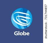 template logo design globe | Shutterstock .eps vector #731744857
