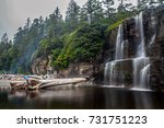tsusiat falls campground ... | Shutterstock . vector #731751223