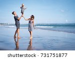 happy holiday near the sea.... | Shutterstock . vector #731751877