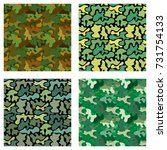 vector pattern with four types... | Shutterstock .eps vector #731754133