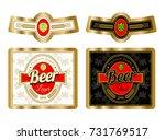 beer label template with neck... | Shutterstock .eps vector #731769517