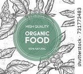 organic food shop vector hand... | Shutterstock .eps vector #731773483