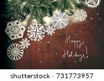 a new year and christmas card   ... | Shutterstock . vector #731773957