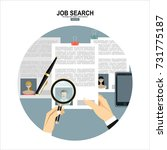 concept of job searching. | Shutterstock .eps vector #731775187