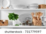 storage stand with kitchenware