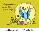 "postcard ""congratulations on... | Shutterstock .eps vector #731787427"