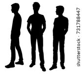 vector silhouettes of men... | Shutterstock .eps vector #731788447
