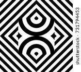 seamless tile with black white... | Shutterstock .eps vector #731794453