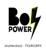 boy power t shirt design with... | Shutterstock .eps vector #731801893