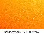 water drops on orange...   Shutterstock . vector #731808967