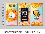 set of autumn sale flyer... | Shutterstock .eps vector #731812117