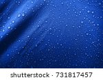 water drops on the fabric | Shutterstock . vector #731817457
