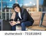 young asian well dressed... | Shutterstock . vector #731818843
