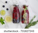 detox infused flavored water... | Shutterstock . vector #731827243