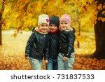 Three Happy Friends Kids Hugging - Fine Art prints