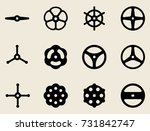 hand wheel icon. vector...   Shutterstock .eps vector #731842747