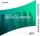 design element for corporate... | Shutterstock .eps vector #731853253