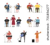 music concert singers and... | Shutterstock .eps vector #731856277