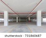 empty parking garage...   Shutterstock . vector #731860687