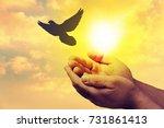 peace. | Shutterstock . vector #731861413