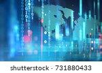 digital code number abstract... | Shutterstock . vector #731880433