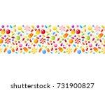 vector horizontal seamless... | Shutterstock .eps vector #731900827