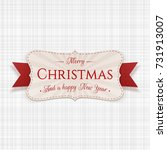 vector christmas festive badge... | Shutterstock .eps vector #731913007