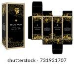 packaging design vector  black... | Shutterstock .eps vector #731921707