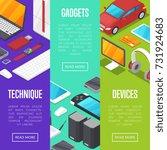 modern gadgets and computer... | Shutterstock .eps vector #731924683