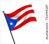 puerto rico flag. puerto rico... | Shutterstock .eps vector #731945287