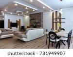 kitchen living room   Shutterstock . vector #731949907