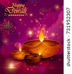 happy diwali light festival of... | Shutterstock .eps vector #731952307