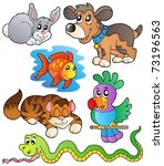 happy pets collection 1  ... | Shutterstock .eps vector #73196563