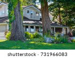 big old residential house with... | Shutterstock . vector #731966083