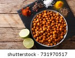 healthy snack  fried spicy... | Shutterstock . vector #731970517