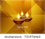 abstract happy diwali religious ... | Shutterstock .eps vector #731976463