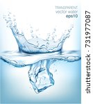 transparent vector water splash ... | Shutterstock .eps vector #731977087