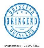 urgent  german  grunge stamp ... | Shutterstock .eps vector #731977363
