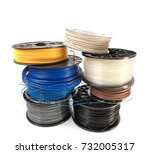 filament for 3d printing | Shutterstock . vector #732005317