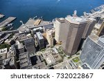 aerial view of seattle... | Shutterstock . vector #732022867